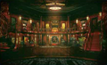 Corneo's Mansion interior artwork for Final Fantasy VII Remake