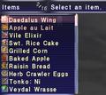 FFXI temporary item menu