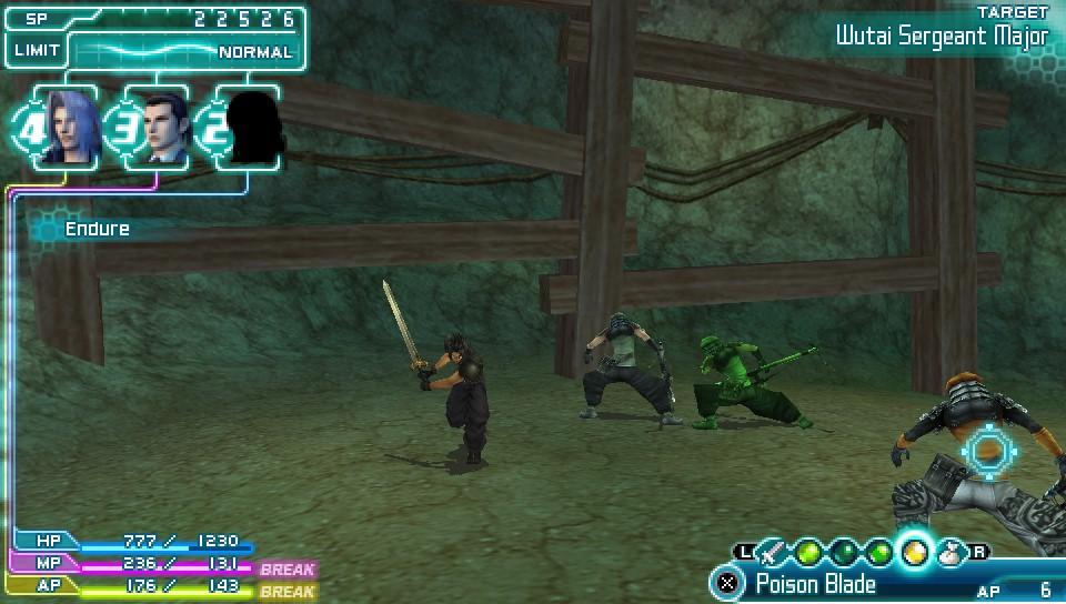 Crisis Core -Final Fantasy VII- statuses
