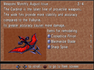 Weapons Monthly August Cardinal from FFVIII R