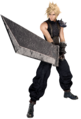 Cloud Strife from FFVII Remake battle render