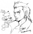 Gladiolus and FF mascots for FFXV 2-year anniversary