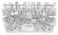 Lindblum Castle Airship Hangar Interior FF9 Art 2