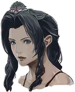 Emerald Tiara Aerith artwork for Final Fantasy VII Remake