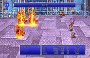 Firion using Fire IV from FFII Pixel Remaster