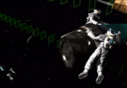 Astronauts collect space capsules from FFVIII Remastered