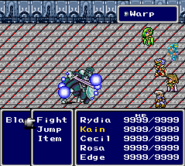 FFIV SNES Warp Battle