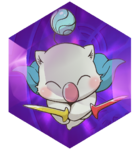 The Moogle summon mimicking the artwork of the unnamed warrior.