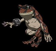 Barret toad status from FFVII Remake concept art
