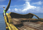 Ellone leaves the White SeeD Ship from FFVIII Remastered