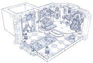 Alexandria Castle Brahne's Room FFIX Art
