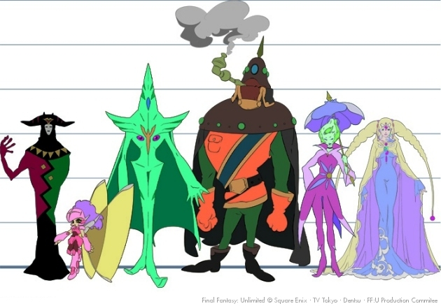 Character height chart for supporting cast of Final Fantasy Unlimited.jpg