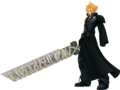 Cloud Strife from Kingdom Hearts 2 render