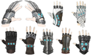 Tifas gloves artwork for FFVII Remake