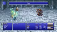Cecil using Cure from FFIV Pixel Remaster