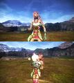 FFXIII-2 Serah and Mog Victory Pose