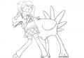Chobi attacks Ai sketch 2 for Final Fantasy Unlimited