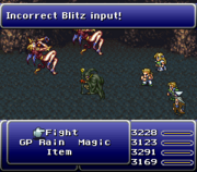 FFVI - Failed Blitz Input