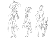 Herba concept sketch for Final Fantasy Unlimited