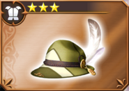 DFFOO Feathered Cap