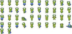 Character sprites when affected by Imp.