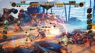 Condor War field battle from FFVII Remake Intergrade
