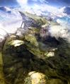 Highlands cutscene concept 1 for Final Fantasy III 3D