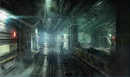 Corkscrew Tunnel artwork 1 for Final Fantasy VII Remake