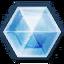 Ícone do elemento Gelo em Final Fantasy XIV.