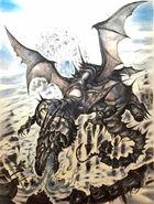 Dragon from Final Fantasy XIV Heavensward Yoshitaka Amano artwork