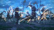 Noctis fighting Niflheim troops