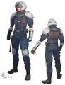 Security Officer artwork for FFVII Remake
