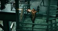 Barret shooting in FFVII Remake
