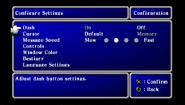 FFI PSP Config Menu