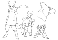 Lou werewolf concept lines 1 for Final Fantasy Unlimited