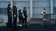 Yjhimei meets Noctis and the retinue in FFXV