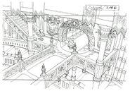 Lindblum Castle Hallway FF9 Art 2