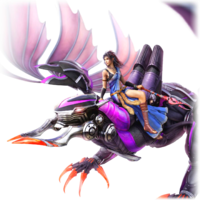 Fang riding Bahamut.