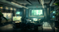 Turks room in the Shinra HQ artwork for FFVII Remake
