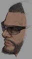 Barret face artwork for Final Fantasy VII Remake