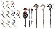 Conjurer Weapons FFXIV Art