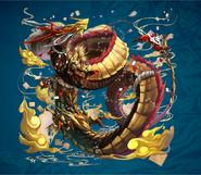 Morrow Gold Dragon from FFD2 Artwork Alt2