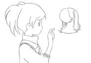 Ai and Poshepocket finger sketch for Final Fantasy Unlimited