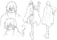 Kaze sketch 2 for Final Fantasy Unlimited