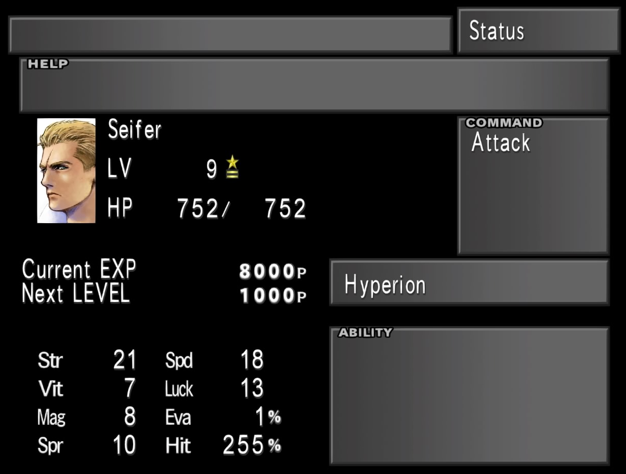 Seifer Almasy stats from FFVIII Remastered.png