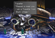 Shumi Traveller in Balamb Garden B1 from FFVIII Remastered