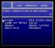 FFVI SNES Item Menu 2