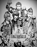 FFXV 2 year anniversary whiteboard art from Square Enix Cafe