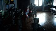 Imperial soldiers surround Lunafreya in FFXV