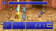 Tellah using Thunder from FFIV Pixel Remaster